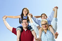 Happy family fun Royalty Free Stock Image