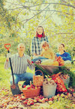 Happy  family in garden Stock Photos