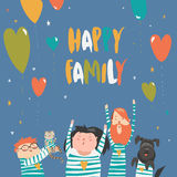 Happy family gesturing with cheerful smile Royalty Free Stock Photo