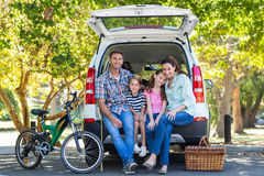 Happy family getting ready for road trip Stock Photos