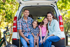Happy family getting ready for road trip Royalty Free Stock Photography