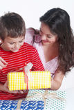 Happy family with a gifts Royalty Free Stock Image