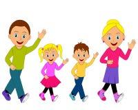 Happy family go Royalty Free Stock Image