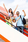 Happy family going on holidays Stock Photo