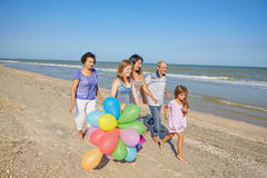 Happy family. Grandmother, grandfather, Mother, youngest daughte. Happy family. Grandmother, grandfather, Loving mother and youngest daughter and an seventeen Royalty Free Stock Image