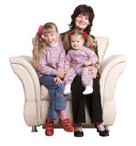Happy  family grandmother and two granddaughter. Stock Image