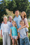 Happy family and grandparents in the countryside Royalty Free Stock Photos