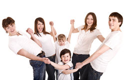 Happy family with group children. Royalty Free Stock Images