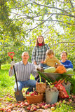 Happy  family with  harvest Royalty Free Stock Photo