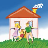 Happy family hause Stock Photo
