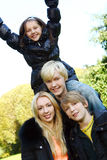 Happy family have fun in park Royalty Free Stock Images