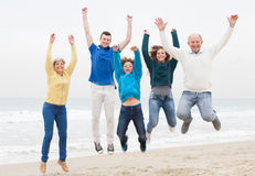 Happy family have fun at vacation Stock Image