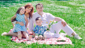 Happy family have picnic Stock Image