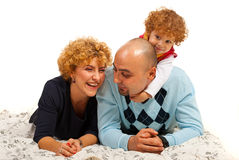 Happy family havinfg fun Stock Images