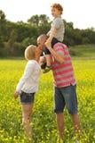 Happy family having fun Stock Images