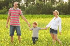 Happy family having fun Royalty Free Stock Photography