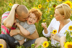 Happy family having fun Royalty Free Stock Images