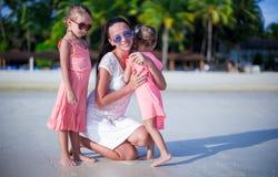 Happy family having fun during beach vacation Royalty Free Stock Photography
