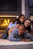 Happy family having fun at home Stock Photography