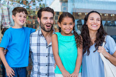 Happy family having fun in the mall Stock Photography
