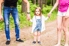 Happy family having fun outdoors and smiling Stock Image