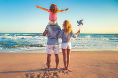 Happy family having fun on summer vacation royalty free stock photos