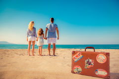Happy family having fun on summer vacation Royalty Free Stock Photos