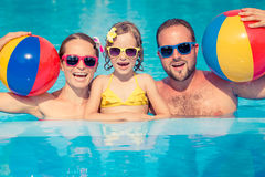 Happy family having fun on summer vacation Royalty Free Stock Images