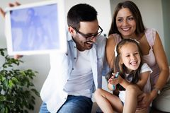 Happy family having fun time at home. Happy family having fun time together at home stock photos