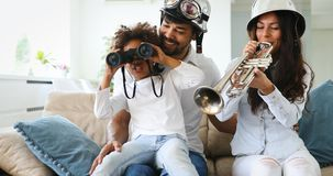 Happy family having fun times. At home Royalty Free Stock Images