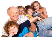 Happy family having fun together Stock Photography