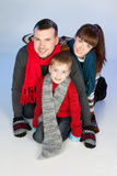 Happy family having fun at winter time Royalty Free Stock Image