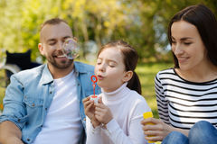 Happy family having great time together Royalty Free Stock Images