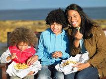 Happy family having picnic Royalty Free Stock Photo