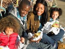 Happy family having picnic Royalty Free Stock Photo