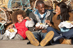 Happy family having picnic Stock Photo