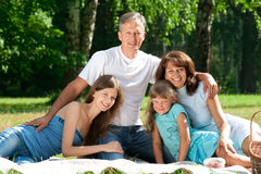 Happy family having picnic Royalty Free Stock Photography