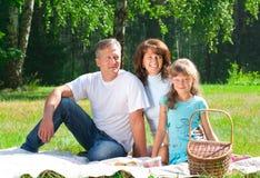 Happy family having picnic Royalty Free Stock Photography