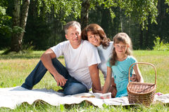 Happy family having picnic Royalty Free Stock Photos