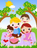 Happy family having a picnic Stock Photo
