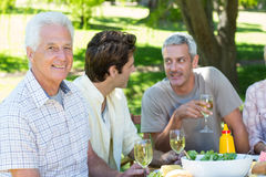 Happy family having picnic in the park Royalty Free Stock Photography