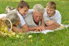 Happy family having a picnic Royalty Free Stock Photos