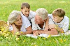 Happy family having a picnic Stock Photography