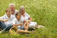 Happy family having a picnic Royalty Free Stock Photography