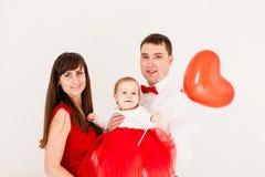 Happy family heart balloon Royalty Free Stock Photos