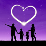 Happy family with heart Royalty Free Stock Photos