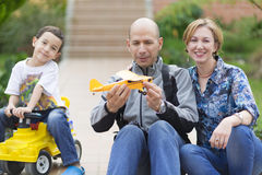 Happy Family and Hobby Stock Photo