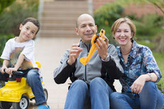 Happy Family and Hobby Royalty Free Stock Photo
