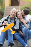 Happy Family and Hobby Stock Image