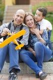Happy Family and Hobby Royalty Free Stock Image